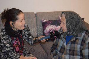 Najstaršia obyvateľka obce Anna Rovňáková spomína na mladosť